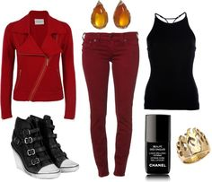 """""""Fire Nation"""" by tnflute616 on Polyvore inspired outfit; Nerd Fashion"""