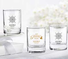 Add some personality to your bridal shower or wedding with our very own personalized shot glass wedding favors. These personalized shot glass wedding favors can be used as either votive holders or as shot glasses. Wedding Favors Unlimited, Candle Wedding Favors, Candle Favors, Unique Wedding Favors, Bridal Shower Favors, Votive Candles, Wedding Ideas, Wedding Stuff, Wedding Inspiration