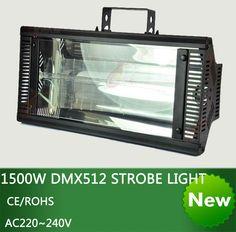 High Qlity Stereotypes packaged1500W DMX512 strobe light dj disco light-1500W Professional stage effect  strobe flash lighting