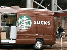 Sucks | Starbucks mistake van