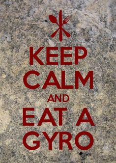 yummm.. love being greek, gyros are my fave.