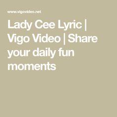 Lady Cee Lyric is waiting for you on Vigo Video Waiting For You, Lyrics, In This Moment, Album, Lady, Fun, I Wait For You, Song Lyrics, Music Lyrics