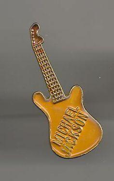 Vintage Michael Jackson Yellow Guitar Old Enamel Pin - http://www.michael-jackson-memorabilia.com/?p=13773