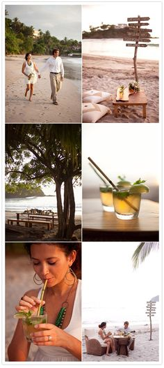 beachy costa rica wedding inspiration