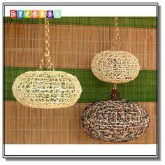DecoBox 南洋風三色藤燈罩(55公分-1個)-不含燈泡線材(產地越南)
