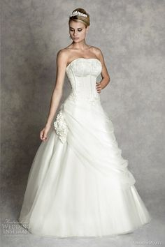 http://weddinginspirasi.com/2012/02/08/amanda-wyatt-wedding-dresses-enchanted-bridal-collection/  amanda wyatt wedding dress 2012 sookie  #ballgown #weddingdress #bridal #weddings #wedding