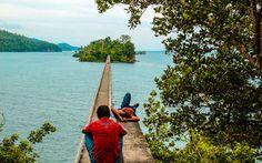 Die Bridge to Nowhere in Samana, Dominikanische Republik
