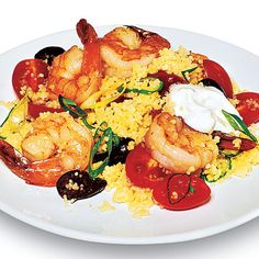 Couscous with Shrimp Surprisingly delicious, subbed Israeli couscous ...