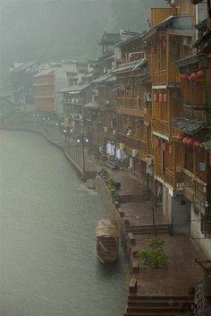 miao village, hunan, china