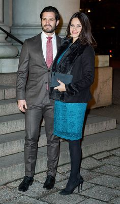 "Prince Carl Philip of Sweden and Princess Sofia of Sweden attended the concert of ""Christmas in Vasastan"" at the Gustaf Vasa Church on December 21, 2015 in Stockholm, Sweden."