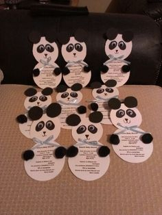 Birthday Panda Lunch Napkins (16) | Tenley's Two | Pinterest ...