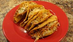 Home-fried chicken tacos
