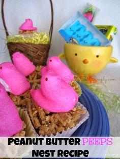 SavingSaidSimply.com: Peanut Butter PEEPS Nest Recipe #Peeps #Easter