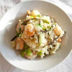 Risotto de crevettes et poireaux au cookeo