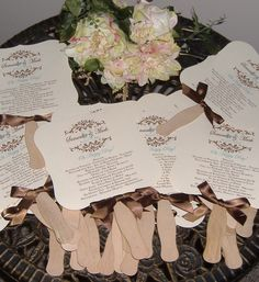 ivory with chocolate bow wedding fan