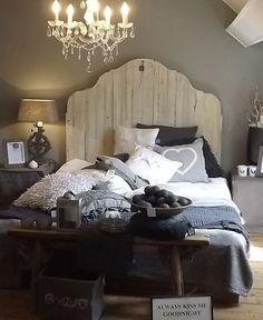 Sfeerplaatje: mooie slaapkamer en mooi bedhoofd