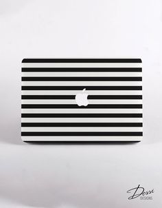 Black And White Stripes Macbook Case Design in by DessiDesigns