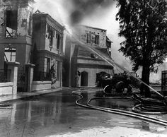 A fire at the Universal backlot in 1967. Damages were approximately $1 million. (Photo: David Hearst Jr. / LAPL 00049868) Bizarre Los Angeles