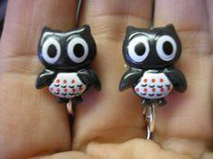 Owl  Clip Play Earring  1/2 by UUendysCraftyCorner on Etsy, $5.00