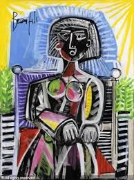 Femme assise dans un jardin sold by Mes Martin & Chausselat, Versailles, on Sunday, October 2008 Versailles, Picasso, Painting Inspiration, Sculpture Art, Bride, Abstract, October, Sunday, Gardens
