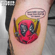 Fun & Hilarious Deadpool Tattoos