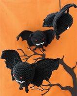 Halloween Bat  http://www.sugarncream.com  Crochet Patterns Halloween