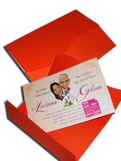 Convite de Casamento Clássico 08