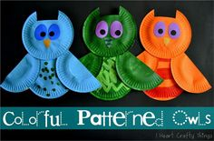 Owl paper plate crafts for kids!