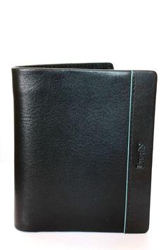 0bdfbc7b73 Portafoglio Portacarte piccolo in pelle men s wallet LUCA S Art 363 Nero