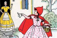 Little Red Riding Hoods Leaves for Grandma's