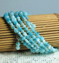 Caribbean Blues Memory Wire Bracelet by SweetMagnoliasShop on Etsy
