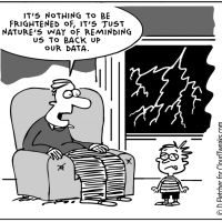 Tech Humor - What storms really mean...