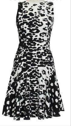 Joseph Ribkoff Sleeveless Dress | Black and White. Available at Aspirations.