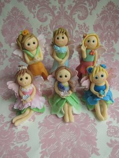 Fairy Dolls with Wings Cupcake Toppers 6 Dolls by mimicafeunion, $55.00