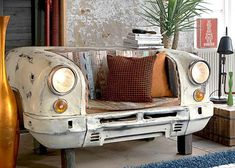 53 upcycling ideas to transform your old stuff Overhauling your home interior needn't cost the earth. Instead of shelling out for brand new furn Car Furniture, Automotive Furniture, Recycled Furniture, Unique Furniture, Furniture Design, Furniture Ideas, Pallet Furniture, Furniture Makeover, Garden Furniture