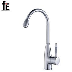 fiE 360 Degree Swivel Alloy Kitchen Mixer Cold and Hot Basin Sink Mixer Tap Kitchen Faucet with 2 pipes
