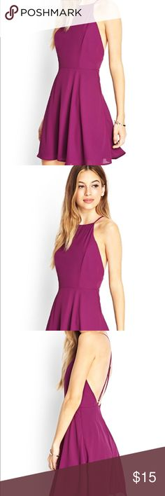 Forever 21 purple skater crosstrap dress In perfect condition Forever 21 Dresses Mini