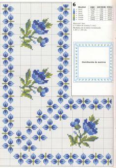 blue flowers corner