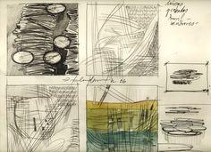 Ignacio Klindworth. #Boceto para la serie Emergentes orgánicas. Lápiz y acuarela sobre papel. 45x33cm. Madrid 2006. www.ignacioklindworth.es
