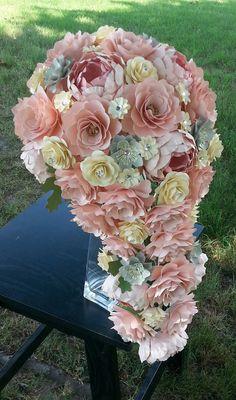 Paper Bouquet Cascading Bouquet Paper by morepaperthanshoes