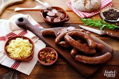 """Kranjska klobasa""  or carniolian sausage - one of the most typical Slovenian dishes."