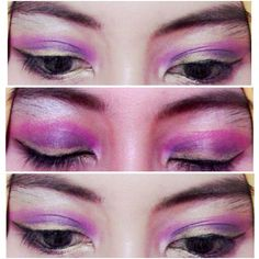 Rapunzel eye shadow make up by me