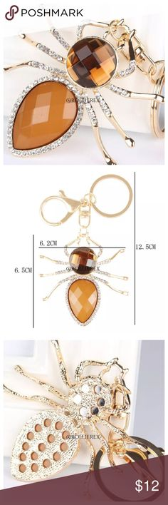 ⛄️SALEJeweled Spider Size: 6.5cm* 6.2cm Material:Alloy,Crystal Accessories Key & Card Holders