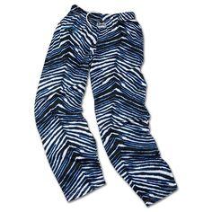 Officially Licensed NFL Zebra-Print Drawstring Pant by Zubaz -