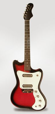 Silvertone Model 1452 Solid Body Electric Guitar, made by Danelectro (1967)