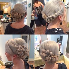 Another wedding hair up style, this was created for a bridesmaid.......