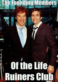 #StevenMoffat #DoctorWho #Sherlock #BenedictCumberbatch #DavidTennant