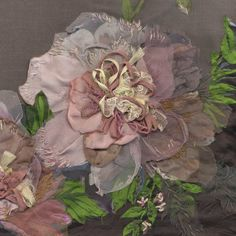 Peonies - detail -- Although these flowers are in an art wall piece, they are wonderful shabby chic too.