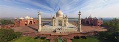 Taj Mahal, en Inde • 360 ° Panorama aérienne
