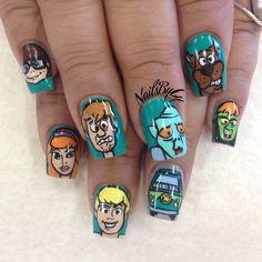 Scooby Doo nails! Via Instagram user @nailsbyly